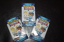 Lot 2 New Sun & Moon Pokemon 3 Card Promo Booster Packs Sealed Limited G Mills