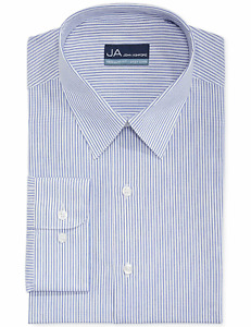 John Ashford Blue Fineline Stripe Dress Shirt, Neck 16.5 Sleeve 32/33 Retail $39