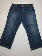 Abercrombie And Fitch Women Sz 6 Cropped Jeans Cotton Denim EUC!! (Measure 30X23