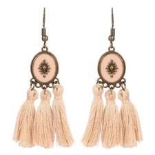 CG2326...BRONZE, ENAMELLED EARRINGS WITH TASSELS - FREE UK P&P