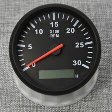 85mm Universal Digital Marine Tachometer Tacho Gauge Meter 0-3000 RPM Hourmeter