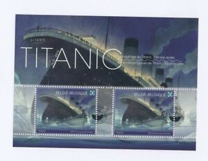 D146453(1) Belgium Imperforate S/S MNH Titanic Special Cancel