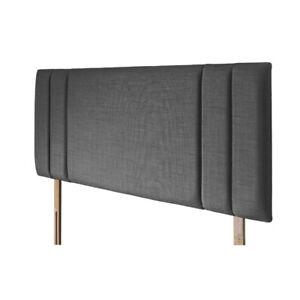 Luxury Turin/Linen Sidebar Headboard Upholstered Fabric - Single, Double, King