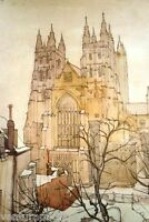 Canterbury Cathedral : Owen Merton : circa 1909 :  Archival Quality Art Print