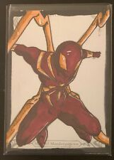2018 Marvel Masterpieces Sketch Card IRON SPIDER Ethan Gray Comic Art Spider-Man