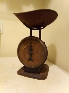 VINTAGE OCT 29 1912 AMERICAN  FAMILY BEAUTY SCALE 24 LB RARE WITH-TRAY