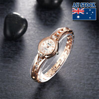 New Charming Women's Rose Gold Filled Wrist Watch With Sparkling Crystal
