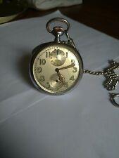Rarissimo Orologio Tasca Longines Alarm Svegliarino 1920 Cromato Funzionante