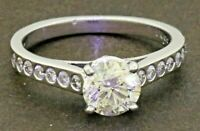 EGL USA 14K WG 1.29CTW diamond wedding/engagement ring w/ 1.01CT ctr. size 6