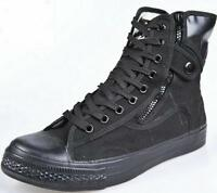 Driving Men Lace Up Military High Top Hiking Zip Work Shoes Tactical Ankle Boots