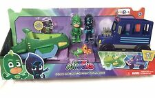 ~ Disney PJ Masks  ~ GEKKO MOBILE & NIGHT NINJA BUS + 2 Figures Hero vs Villain