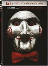 SAW COMPLETE 8 MOVIE COLLECTION 8 FILMS UNRATED 5 DISC SET DVD R1 IN STOCK!