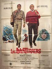 Les aventuriers (Affiche cinéma EO 1967) Delon, Ventura, Reggiani RARE CH. RAU