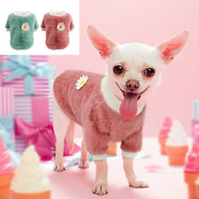 Plush Dog Winter Coat Sweater French Bulldog Clothes Soft Plush Jumper Vest Pink