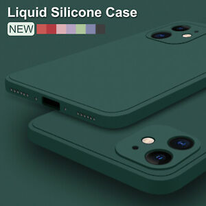 Case For iPhone 13 Pro Max 12 11 8 XS XR Liquid Silicone Shockproof Rubber Cover
