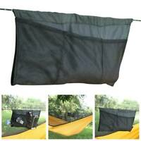 Outdoor Camping Black Hammock Sundries Bag Hanging Nylon Ridge Rope Strap ~