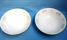 2 China Garden Fruit Berry Dessert Bowls Prestige Pattern White Gold Trim