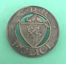 OBSOLETE VINTAGE CANADIAN PACIFIC RAILWAY POLICE BADGE