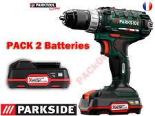 PARKSIDE® Perceuse-visseuse sans fil PABS 20-Li D4, 20V Pack 2 Batteries