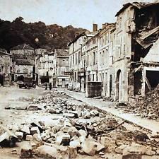 WW1 Stereoview -Absolute Destruction to The Place Des Halles, Saint Mihiel Meuse