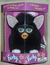 Original Furby Rare All Black 1998 Tiger Electronics 70-800 NEW in SEALED BOX
