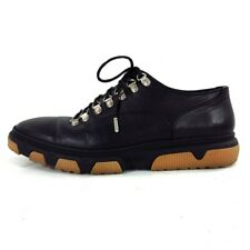 Auth Dior HOMME 16EBM Black Leather Mens Shoes #41 (US # 8)