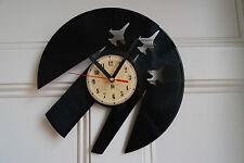 Reloj de Pared diseño de flecha roja disco de vinilo Dormitorio Playroom Oficina Tienda Casa Club
