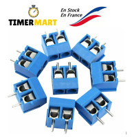 PCB Bornier à Vis 2 Broches Pin Bornier à Souder Bleu 5mm