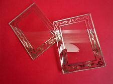 VERRE ART DECO CADRE PORTE PHOTOS 11cm x 8cm  / GLASS FRAME PICTURE