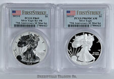 New listing 2012-S Silver Eagle S.F. 75th Anniv Set Pcgs Pr69 Rev.Proof & Dcam Sequential #s