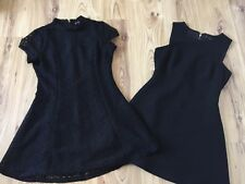 Zara Lace Black Dress Bundle X 2 Size UK M Smart Work Dress