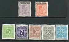Denmark 1919- Parcel post,Postage due collection of 7. MH.Very fine.