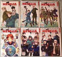 Hetalia Axis Powers Manga Vol 1 2 3 4 5 6 English
