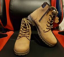 GENUINE LEATHER UNISEX MEN WOMEN ANKLE  BOOTS LACE UP/ZIP
