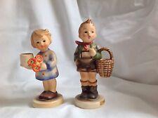 Hummel 51 3/0 Village Boy and Hummel 115 Girl with Nosegay both TMK 3