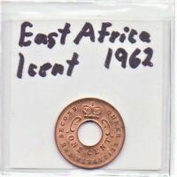 East Africa 1 Cent 1962 Queen Elizabeth II As Pictured
