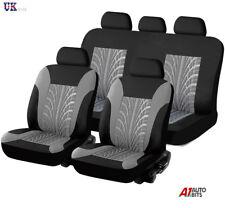 Gris Negro Claro Tela Completo Juego de Fundas Asientos Coche para Toyota Prius