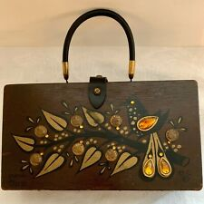 Enid Collins Wooden Box Bag Purse Money Tree III Use Repair Parts