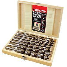 Dekton 8pc Hex Auger Wood Drill Bit Set, 6, 8, 10, 12, 14, 16, 18, 20mm