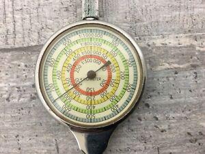 altes Mechanisches Kurvimeter, Landkartenmesser, Kartenmesser - mit Etui