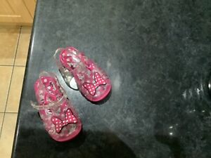 Baby girls jelly sandals Minnie Mouse size 4/21