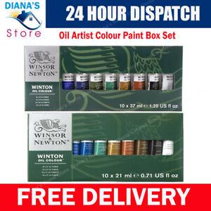 Winsor & Newton Winton Oil Artist Colour Paint  Box Set 10 x 21ml Tubes
