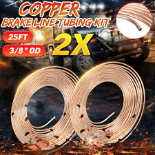 "2pcs Universal 25Ft Copper Brake Fuel Line Pipe Trans Tubing 3/8"" OD Coil   -."