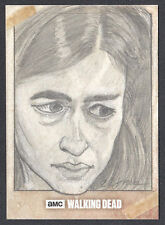 THE WALKING DEAD SEASON 6 Topps 2017 SKETCH CARD by CLINTON YEAGER of TARA