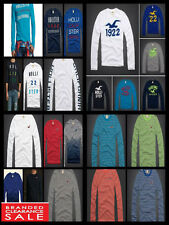 Hollister Long Sleeve Fitted Crew Neck Men's Casual Shirts & Tops