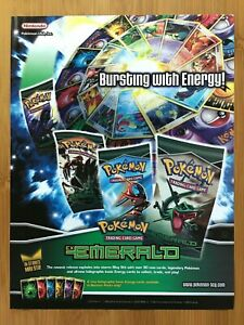 2005 Pokemon EX Emerald TCG Cards Print Ad/Poster Official Original Promo Art!
