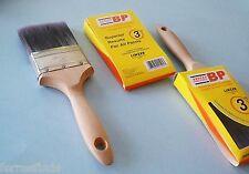 "2 Linzer 3"" Paint Brush Polyester Bristle Flat Edge Beavertail Handle HD1152-3"