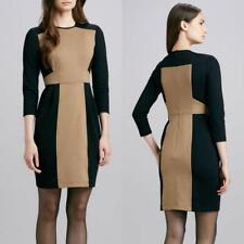 Nanette Lepore Dress Size 8 Rabat Sheath Career Evening Black Tan Ponte NWT $248