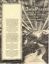TWIN PEAKS CELEBRITY AUCTION AND DINNER PARTY PROGRAM PAMPHLET