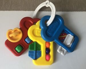 Vintage Fisher Price Activity Keys Key Baby Toy Rattle Spinner Teether 1994 Used